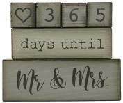 Ganz 6 Piece Wooden Block Wedding Day Countdown Calendar