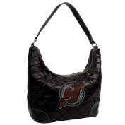 NHL Sport Noir Quilted Hobo Purse