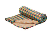 Henry and Brothers Double-layer Toddler Blanket, Gingham Football