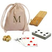 We Games Cribbage and More Travel Game Pack with Custom Imprint Bag