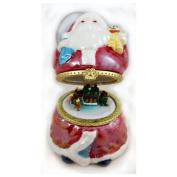 Musical Santa Trinket Box Christmas Ornament