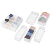 Clear Whitmor 6-Piece Drawer Organiser Set
