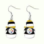Pittsburgh Steelers NFL Snowman Holiday Dangle Logo Earring Set Charm Gift by aminco