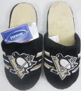 Pittsburgh Penguins Embroidered Big Logo NHL Licenced Men's Slippers Adult Sizes