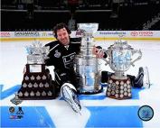 Justin Williams Los Angeles Kings 2014 NHL Stanley Cup Trophies Photo