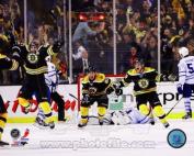 Patrice Bergeron Boston Bruins 2013 NHL Playoffs Game 7 Overtime Goal Photo