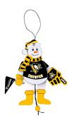 NHL Wooden Cheering Snowman Ornament