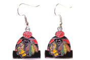 NHL Licenced Beanie Knit Hat Dangle Earrings