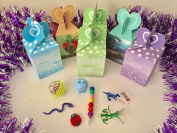 6x Pack Goody Bags Pre Made & Filled with Toys, Boys & Girls Goodie Bag, Filled Goody Bag / Loot Bag, Light up Toys & Candy; Pencil; Eraser; Sharpener