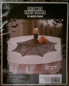 Halloween Spiderweb Lace Table Topper 80cm Round