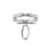 0.20-0.25 Cts SI2 - I1 clarity and I-J colour Diamond Eternity Ring in 14K White Gold