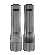 Russell Hobbs 23460-56 Battery Powered Salt and Pepper Grinders, Stainless Steel Silver