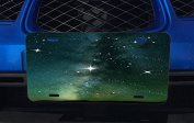 Cosmic Space Stars Shining Rising Printed Design Aluminium Licence Plate for Car Truck Vehicles