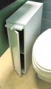 60cm Wood Slim Bathroom Cabinet Stand - White