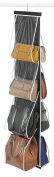 "Zober Hanging Purse Organiser, Breathable Nonwoven Handbag Organiser, 8 Easy Access Clear Vinyl Pockets, 47"" L x 12 ¼"" W"