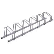 Goplus 6 Bike Rack Bicycle Stand Parking Garage Storage Organiser Cycling Rack Silver