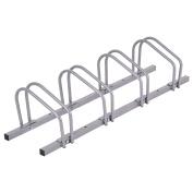 Goplus 4 Bike Rack Bicycle Floor Stand Parking Garage Storage Organiser Cycling Rack Silver