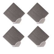 IBEET Stainless Steel Wall Hook,3M Strong Self Adhesive Hooks,Pack of 4 Rhombus