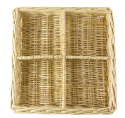 Natural Willow Snack Basket Tray Organiser - 28cm