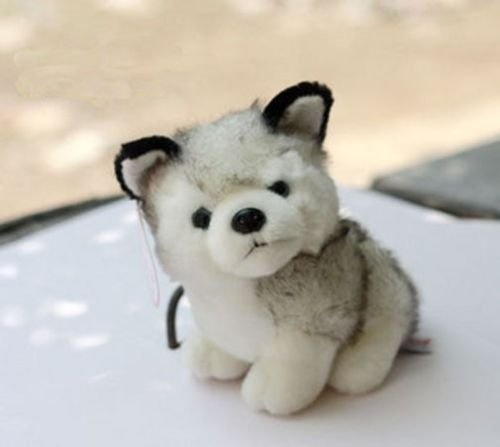 "7/"" 18cm Plush Doll Soft Toy Animal Husky Dog Baby Kids Cute Stuffed Toys Gift"