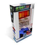 Mindscope GreenTek Light Up (LED) Friction Vehicles Emergency Series (Police Car & Fire Truck) No Batteries Needed Self Powered