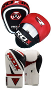 RDX Boxing Focus Punch Mitts MMA Training Punching Hook and Jab Strike Pads Target With Punching Gloves