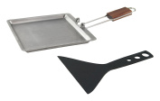 Stainless Raclette/Cheese Melting Pan with Scraper
