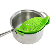 Binmer(TM) New Kitchen Pots Pans and Bowls Extras Silicone Clip-On Snap and Strainer Clip Colander