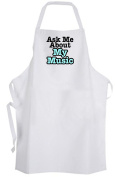 Ask Me About My Music – Adult Size Apron – Musician