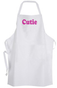 Cutie – Adult Size Apron – Cute Word Quote