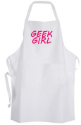 Geek Girl – Adult Size Apron - Nerd Girly Geeky