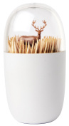 Deer Meadow Toothpick Holder by Qualy Design. Brown Colour. Unique Home Design Decoration. Unusual Gift.