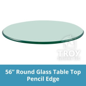 140cm Inch Round Glass Table Top, 1cm Thick, Pencil Polish Edge, Tempered Glass