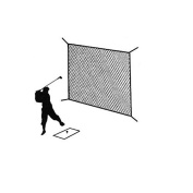 Golf Net Black Practise Driving Impact Screen Netting Roped Edges 3m X 3m
