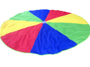 3.7m Kids Colourful Play Parachute, 8 Handles, Perfect Toy Tent For Outdoor Games, Backyard Fun, Children Physical Education Activities