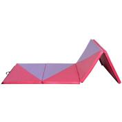 Goplus Gymnastics Mat, Thick Folding Panel, Pink/Purple