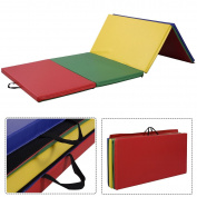 "4 Colours Yoga 1.2mx2.4mx2"" PU Gymnastics Mat Gym Folding Panel Exercise Tumbling Pad"