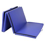 "Goplus Folding Gymnastics Gym Exercise Mats 1.2mx3mx2"" Stretching Yoga Mat Blue"