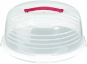 Curver Round Cake Box, Transparent/White