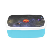 D-Story Outer Space Galaxy Solar System Planets Children's Lunch Box Leakproof Bento Lunch Box Food Container