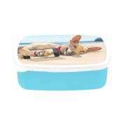 D-Story Chihuahua Dog Relaxing And Resting Children's Lunch Box Leakproof Bento Lunch Box Food Container