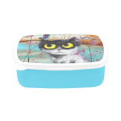 D-Story Cute Cat And Butterfly Children's Lunch Box Leakproof Bento Lunch Box Food Container