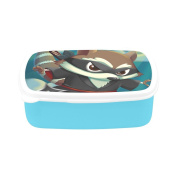 D-Story Ninja Kungfu Raccoon Children's Lunch Box Leakproof Bento Lunch Box Food Container