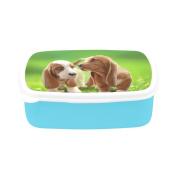 D-Story Puppies Children's Lunch Box Leakproof Bento Lunch Box Food Container