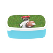 D-Story Jack Russell Dog Holding A Rugby Ball Children's Lunch Box Leakproof Bento Lunch Box Food Container