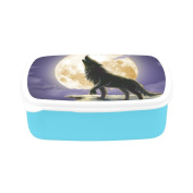 D-Story Cool Wolf And Moon Children's Lunch Box Leakproof Bento Lunch Box Food Container