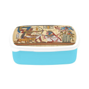 D-Story Antique Egyptian Papyrus And Hieroglyph Children's Lunch Box Leakproof Bento Lunch Box Food Container