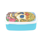 D-Story Art Skull Day Of The Dead Children's Lunch Box Leakproof Bento Lunch Box Food Container