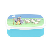 D-Story A Wolf In Shepherd Has A Stick Children's Lunch Box Leakproof Bento Lunch Box Food Container