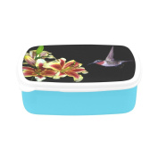 D-Story Hummingbird In Flight With Tropical Lily Flower Children's Lunch Box Leakproof Bento Lunch Box Food Container
